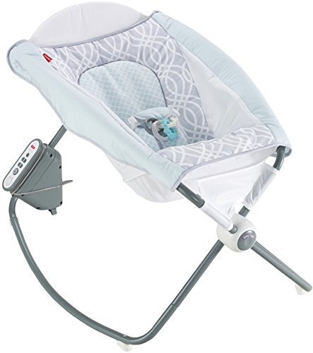 Fisher-Price Newborn Auto Rock 'n Play Sleeper, Blue/Grey For Sale