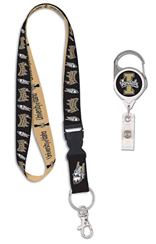 WinCraft Bundle 2 Items: University of Idaho Vandals 1 Lanyard and 1 Premium Badge Reel