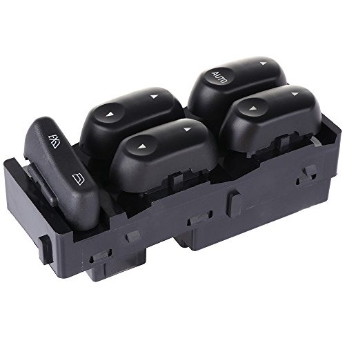 (cciyu Master Power Window Switch for 2002-2004 Ford F250 F350 Super Duty F450 F550 2003-2004 Mercury Marauder Front Left Driver Side Master Control Switch Automotive Replacement Parts 1L2Z14529BA)