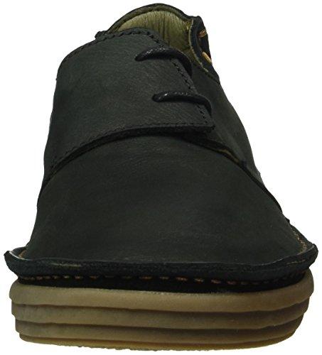 El Naturalista Nf80 Pleasant Rice Field, Zapatos de Cordones Derby para Mujer Negro (Black)