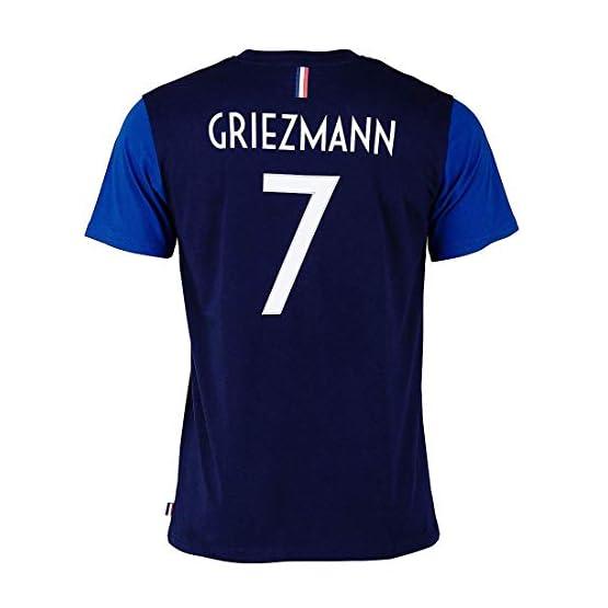 Tee-Shirt Equipe De France FFF Enfant GRIEZMAN N°7 Licence Officielle Bleu.