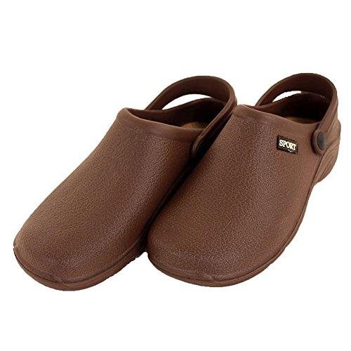 Sport Women's Solid Slingback Garden Clogs Shoes Brown hOUSBzqe