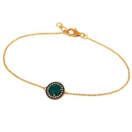Gold Plated Turquoise Gemstone Bridesmaid Chain Bracelets Jewelry