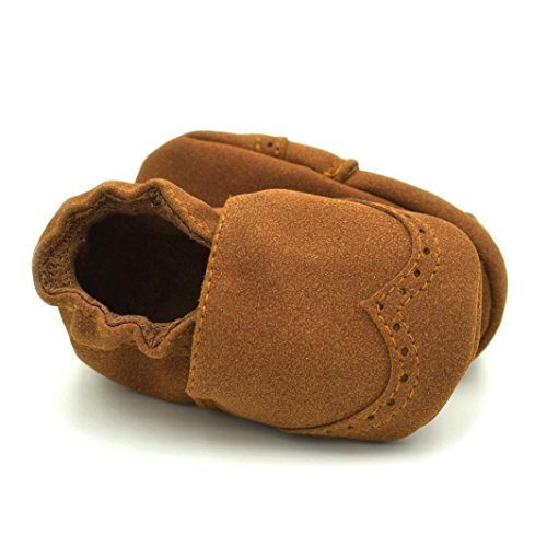 (Toddler Baby Soft Shoes, TRENDINAO New Toddler Baby Newborn Boys Girls Infants Soft Nubuck Shoes (Size:12(6-9Months), Brown))