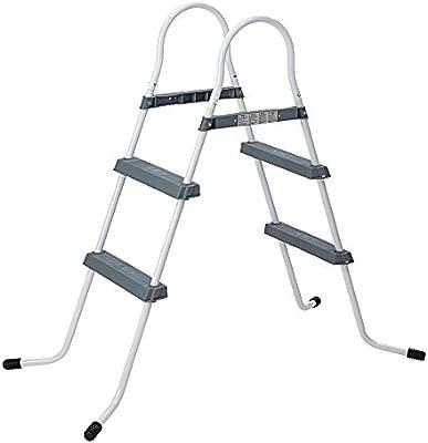 Jilong 2-84 Pool Ladder Grey - Escalera de 2 peldaños, para Piscinas de hasta 84 cm: Amazon.es: Jardín