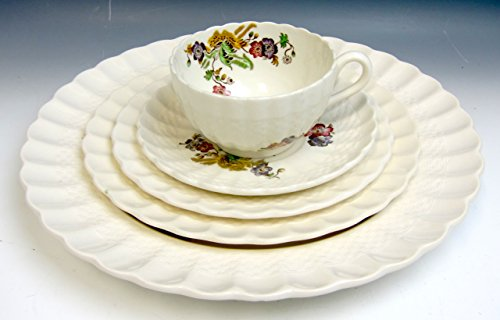 Spode China WICKER LANE 5 Piece Place Setting EX