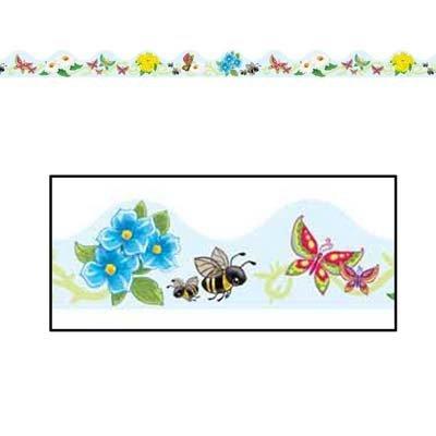 (Butterflies & Flowers Border Trim Party Accessory (1 count) (12/Pkg))