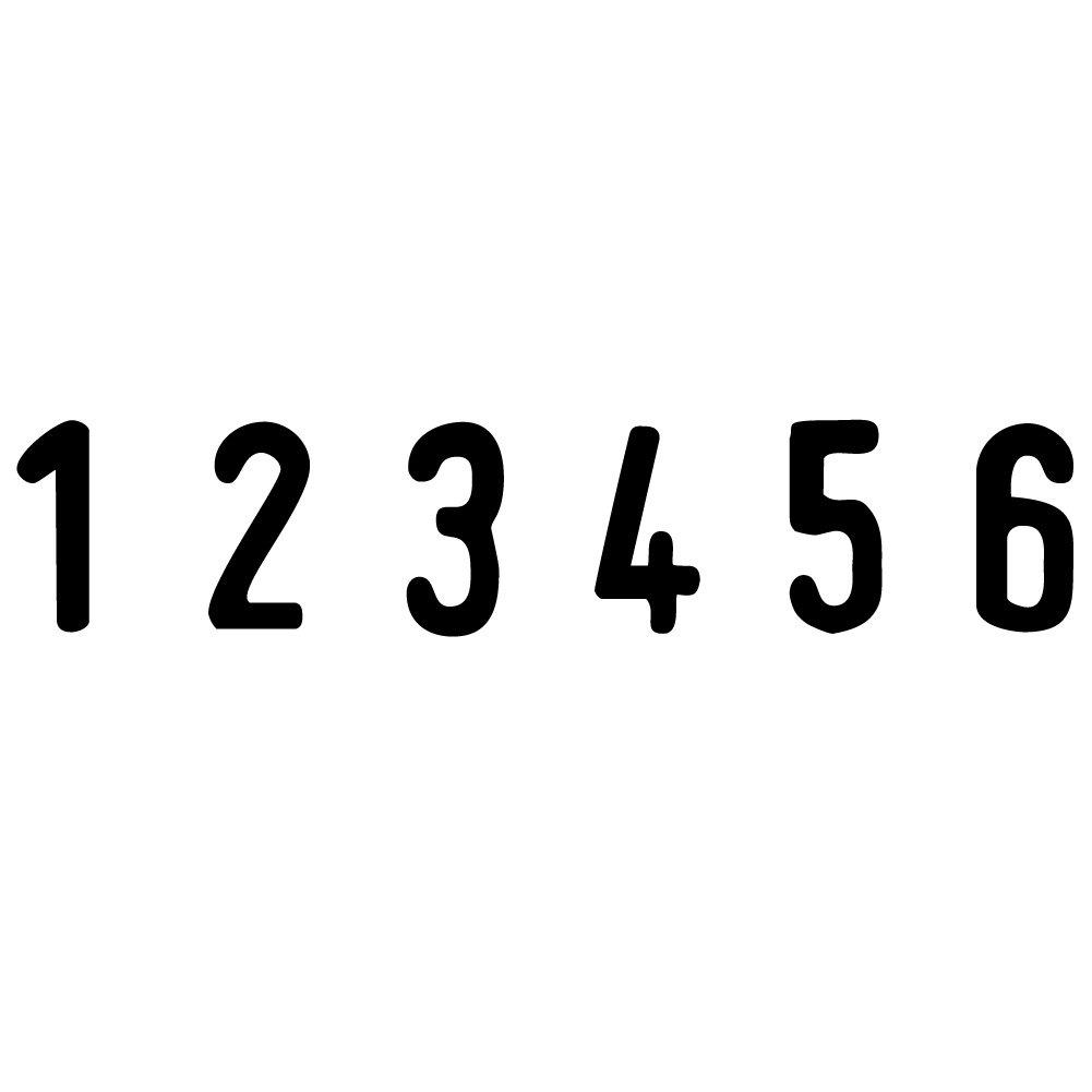 Trodat Printy 4836 6 cifras, tama/ño de tipo 3,8 mm color negro Sello para cifras