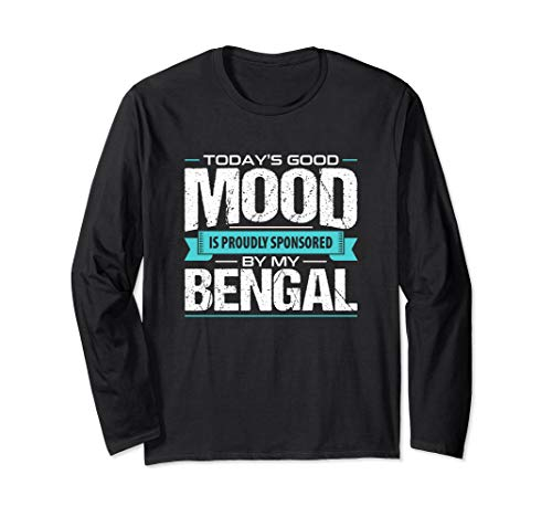 Long Sleeve Bengal Cat Tshirt