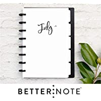 "BetterNote July 2020 - June 2021 Academic Monthly Calendar Tabbed Dividers for Disc-Bound Planners, Fits 8-Disc Circa Junior, Arc by Staples, Half Letter Size 5.5""x8.5"", Whimsy (Notebook Not Included)"