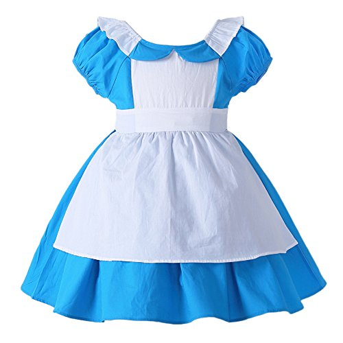JiaDuo Little Girls Princess Alice Dress Up Cotton Halloween Costumes 130 -