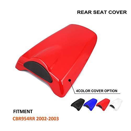 Honda Rear Cbr954rr (Motorcycle Red Rear Seat Cowl Passenger Pillion Fairing Tail Cover For Honda CBR954RR 2002-2003)