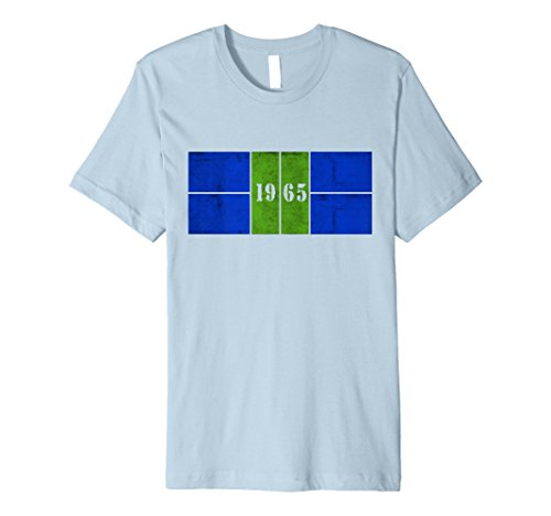 d7e219eeb7d 1965 Distressed Pickleball Court Blue Green Premium Tee