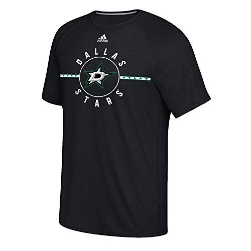 Star Game Red T-shirt (adidas NHL Dallas Stars Mens Red Line Ultimate S/Teered Line Ultimate S/Tee, Black, X-Large)