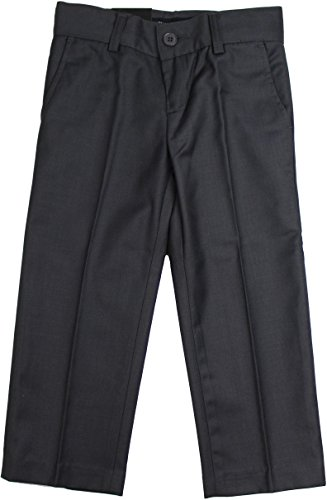 ARMANI MARTILLO Boys Flat Front Adjustable Waist Slim - Boys Charcoal Gray Dress Pants