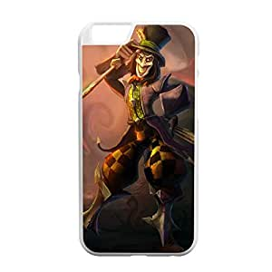 Shaco-003 League of Legends LoL case cover for Apple iPhone 6 - Plastic White