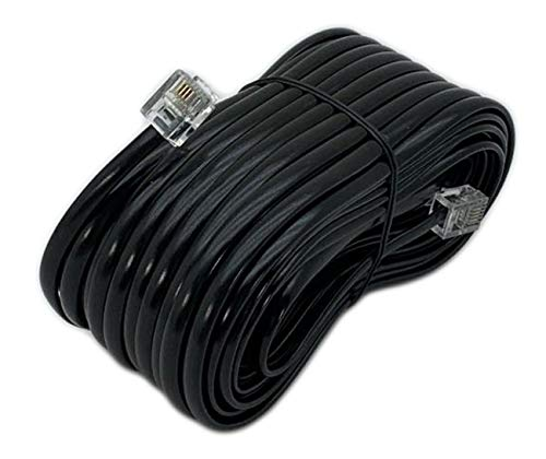 iMBAPrice 50 Feet Long Telephone Extension Cord Phone Cable Line Wire - Black