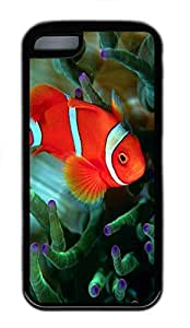 for iphone 4/4s Case Clown Fish 2 Animal TPU Custom for iphone 4/4s Case Cover Black