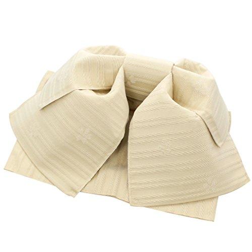 ただ運命的なラケット(キステ) Kisste 作り帯 浴衣用 ポリエステル100% <クリーム ボーダー/柄おまかせ> 日本製 5-8-03728