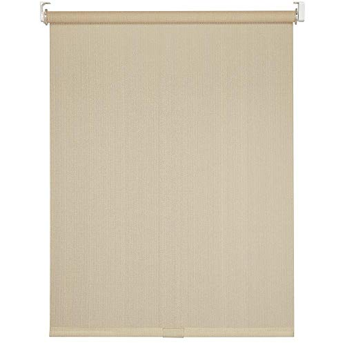 "Cord-Free Easy Spring Action High-Density Polyethylene Exterior Roller Shade (72"" X 72"", Cream)"
