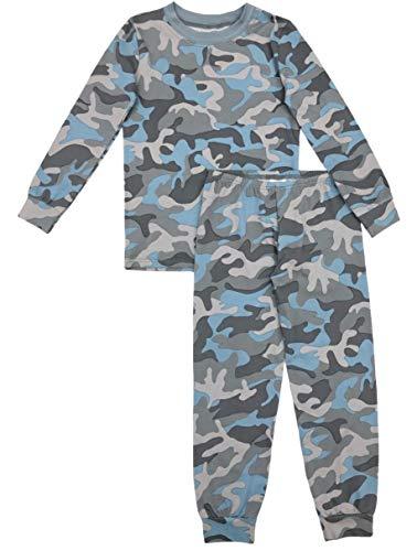 Esme Boys Pajamas Crew Neck Long Sleeve Pant Set 6 Camo]()