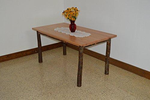 - A & L Furniture 2721 Hickory Farm Table, Natural Finish