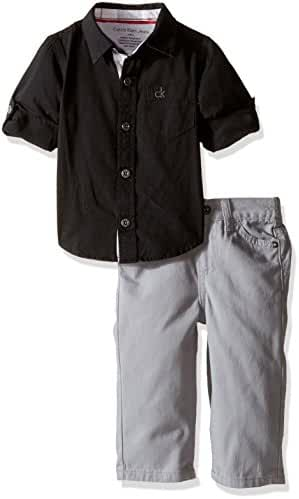 Calvin Klein Baby Boys' Shirt and Twill Pants Set