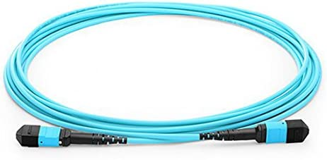 30m Type B MPO Male to MPO Female Fiber Patch Cable 24 Fibers OM3 50//125 Multimode Trunk Cable
