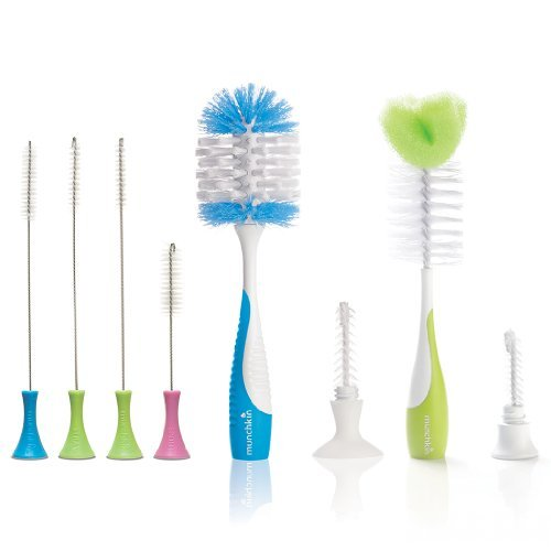 Munchkin Set of Deluxe Bottle Brush and Bottle & Nipple Brush ()