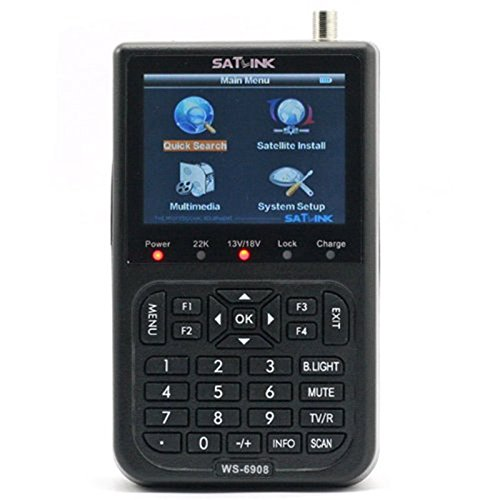 SATLINK WS-6908 DVB-S FTA Digital Signal Meter Satellite TV Receiver 3.5Inch LCD Support QPSK