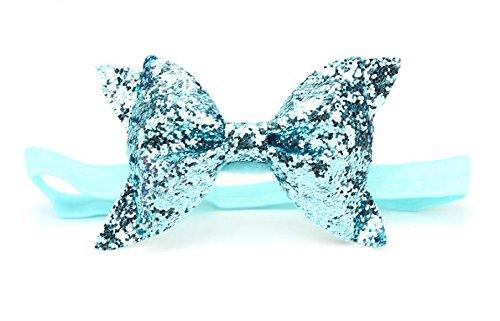 Driverder Chic et Roman Mode Enfants Bandeau Fille Paillettes Noeud Papillon Serre-Tête (Bleu Ciel)