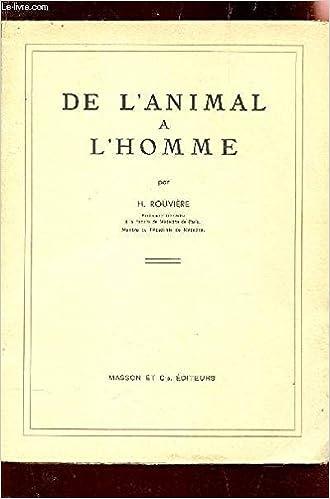 En ligne De l'animal a l'homme pdf ebook