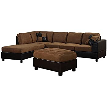 Amazon Com Us Pride Sierra Microfiber Sectional Sofa With