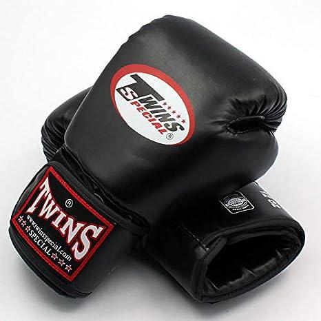 STQJKLM Jumeaux Gants Kick Gants De Boxe en Cuir PU Sanda Sandbag Formation Noir Gants De Boxe 8 10 12 14 Oz Hommes Femmes Guantes Muay Thai