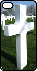 Cemetery Full Of Crosses Black Plastic Case for Apple iPhone 5 or iPhone 5s