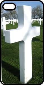 Cemetery Full Of Crosses Black Rubber Case for Apple iPhone 6 Plus