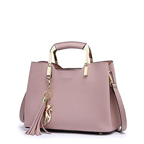 Delicate And Elegant Versatile Fringed Handbag Shoulder Slung Bag Women's Shoulder Bags,Pink by NUGJHJT