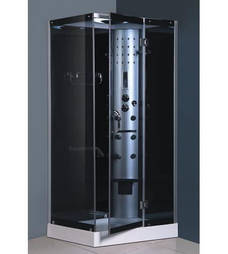 Genérico de cabina de ducha baño turco y con hidromasaje 100 x 80 ...