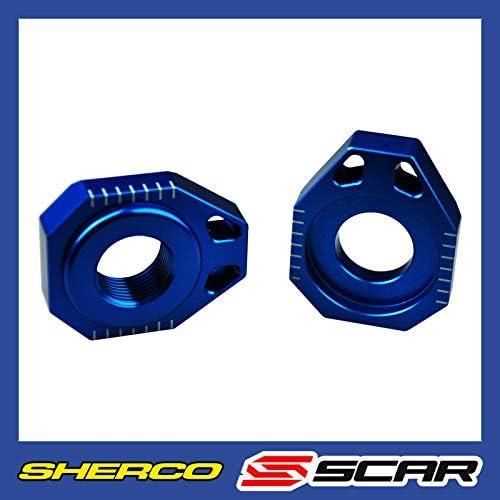 Scar Achsenblöcke Achsblöcke Kompatibel Mit Sherco Ser Sefr Sm 125 250 300 450 500 08 21 Blau Auto