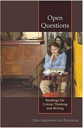 Book Open Questions: Readings for Critical Thinking and Writing by Chris Anderson (2005-02-11)