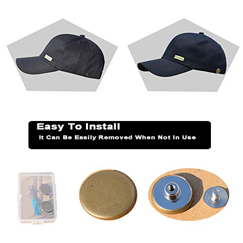 Bluemary Cotton Baseball Cap-Contain with Detachable Buckle Baseball Cap,Classic Adjustable Sun Hats for Men Women (Black)