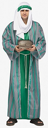[3 Wise Men Adult Costume Green - Standard] (Green Wiseman Costumes For Men)