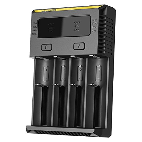 Nitecore New i4 2016 Intellicharger Smart Battery Charger for Li-ion IMR Ni-MH (Best Nitecore 18650 Battery Chargers)