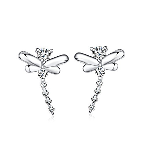 Tabwing Sterling Silver Dragonfly Stud (Dragonfly Stud Earrings)