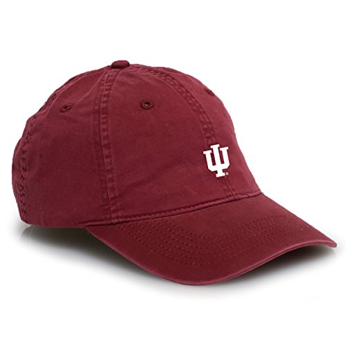 Basketball Collegiate Pacific (UGP Campus Apparel AV31 - Indiana Hoosiers Primary Logo Vintage Adjustable Hat - OS - Cardinal)