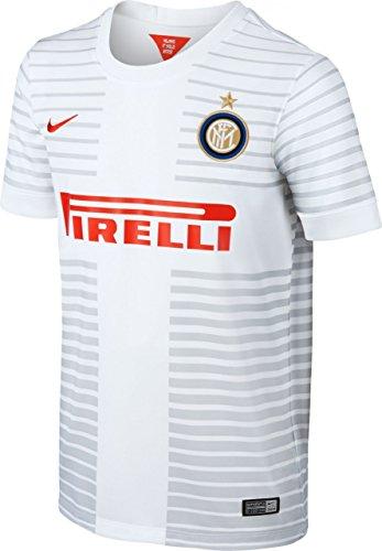 Nike Kinder Jungen Inter ss away Stadion Trikot Football white/challenge red