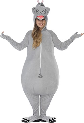 Madagascar Costumes (Smiffy's Children's Madagascar Gloria The Hippo Costume, All-in-one Jumpsuit)