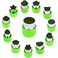 JYDirect 12 Pieces Vegetable Cutter Shapes Set,Mini Pie,Fruit and Cookie Stamps Mold,Cookie Cutter Decorative Food,for…