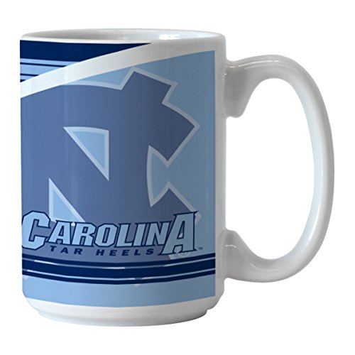 NCAA North Carolina Tar Heels Split Mug, 15-ounce