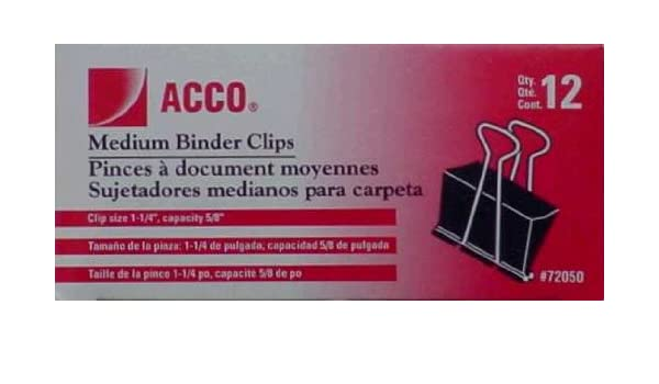 Amazon.com : CLIPS BINDER MED12CT by ACCO MfrPartNo A7072050 : Office Products